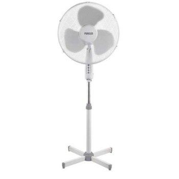 Настолен вентилатор Fuego SFF-1630, 45W, 3 скорости на работа, 3 пластмасови перки, предпазна решетка, бял image