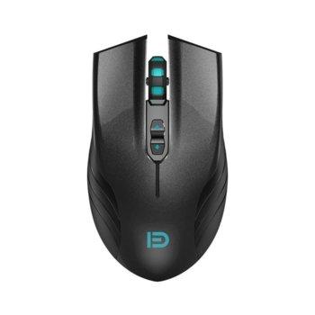 Мишка D i730, оптична(1600dpi), безжична, USB, черна, геймърска image