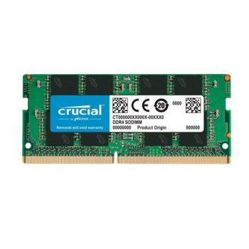 Памет 16GB DDR4 3200MHz, SO-DIMM, Crucial CT16G4SFRA32A, 1.2V image