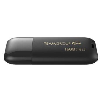 Памет 16GB USB Flash Drive, Team Group C175, USB 3.0, черна image