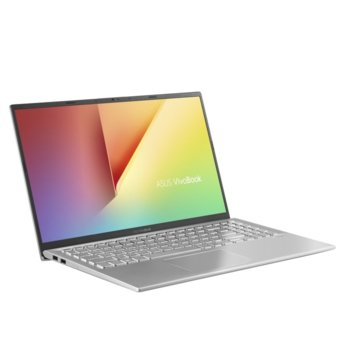 "Лаптоп Asus VivoBook 15 X512JP-WB501 (90NB0QW2-M02700)(сребрист), четириядрен Ice Lake Intel Core i5-1035G1 1.0/3.6 GHz, 15.6"" (39.62 cm) Full HD Anti-Glare Display & GeForce MX330 2GB, (HDMI), 8GB DDR4, 256GB SSD, 1x USB 3.1 Type-C, No OS  image"