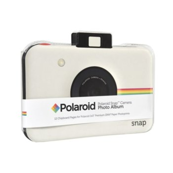 Фотоалбум Polaroid Snap Themed Scrapbook, 12 страници, бял image