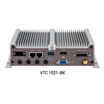 Индустриален компютър Nexcom VTC1021-BK (10V00102101X0), четириядрен Intel Atom E3940 1.60/1.80 GHz, 4GB DDR3L, 64GB SSD, USB, Windows 10 image
