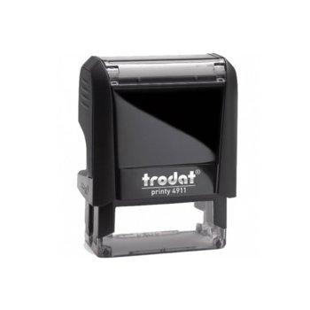 Автоматичен печат Trodat 4911 черен, 14/38 mm, правоъгълен image