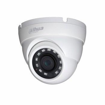 HDCVI камера Dahua HAC-HDW1200M-0360B-S4, куполна камера, 2MPix(1920×1080@30fps), 3.6, IR осветеност (до 30 m), външна IP67 image