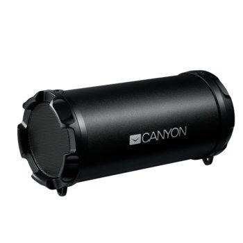 Тонколона Canyon CNE-CBTSP5, 2x 3W RMS, безжична, Bluetooth/AUX, слот за microSD, черна image