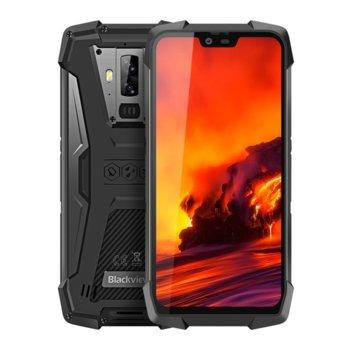 "Смартфон Blackview BV9700 Pro (черен), поддържа 2 sim карти, 5.84"" (14.83 cm) IPS дисплей, осемядрен Helio P70 2.1 GHz Kryo 485, 6GB RAM, 128GB Flash памет (+ microSD слот), 16.0 + 8.0 & 8.0 Mpix camera, Android, 283g image"