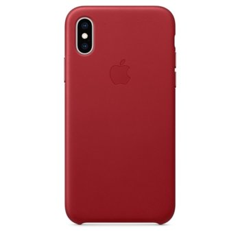Apple iPhone XS Leather Case - Red product