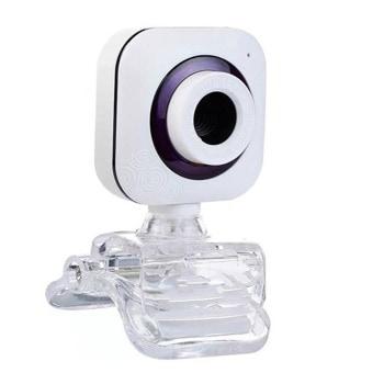 Уеб камера Kisonli PC-1, микрофон, 640x480 / 30fps, автоматичен баланс на бялото, USB, бяла image