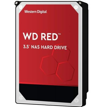 """Твърд диск 4TB WD Red NAS, SATA 6GB/s, 5400rpm, 256MB кеш, 3.5"""" (8.89cm) image"""