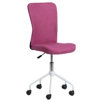 Детски стол Carmen 7025-1, дамаска, метална база, газов амортисьор, розов image