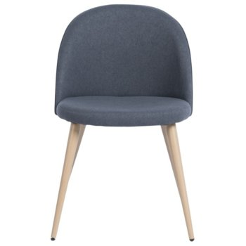 Трапезен стол Carmen 514, дамаска, тъмно сив image