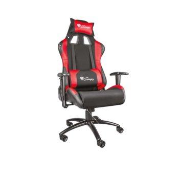 Геймърски стол Genesis Nitro 550, до 150кг. макс тегло, метална основа, черен/червен image