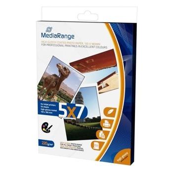 Фотохартия MEDIARANGE GLOSSY, 130x180 mm, гланцирана, 220 g/m2, 50 листа image