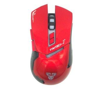 Мишка FanTech Gragas Z3, оптична, 3200 DPI, USB, подсветка с различни цветове, червена, гейминг image