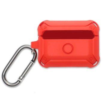 Калъф за слушалки 4Smarts HardShell 4S467813, за Apple AirPods Pro, поликарбонатов, удароустойчив, червен image