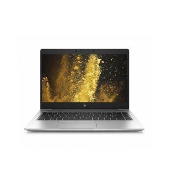 "Лаптоп HP EliteBook 840 G6 (6XD46EA)(сребрист), четириядрен Whiskey Lake Intel Core i7-8565U 1.8/4.6 GHz, 14.0"" (35.56 cm) Full HD Anti-Glare Display, (HDMI), 8GB DDR4, 256GB SSD, 1x Thunderbolt, Windows 10 Pro, 1.48 kg image"