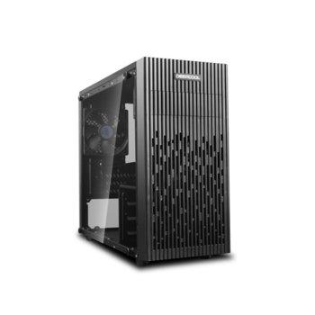 Кутия DeepCool Matrexx 30, mATX, MINI-ITX, 1x USB 3.0, прозорец, черна, без захранване image