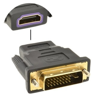 Преходник DVI(м) към HDMI(ж), позлатени конектори image