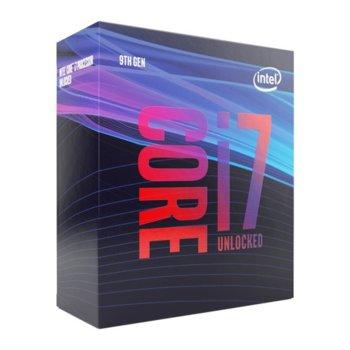 Процесор Intel Core i7-9700F осемядрен (3.0/4.7 GHz, 12MB, без GPU, LGA1151), BOX, с охлаждане image