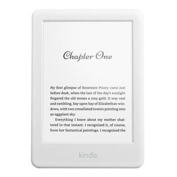 """Електронна книга Amazon Kindle 2019 10th Generation, 6"""" (15.24 cm) E-Ink сензорен екран, 8GB Flash памет, до 4 седмици работа, Bluetooth, Wi-Fi, бяла image"""