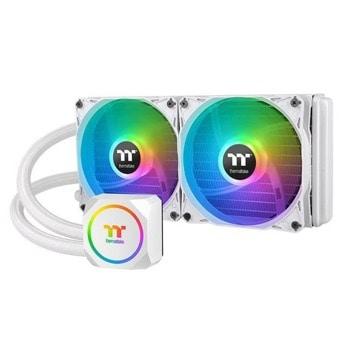 Водно охлаждане за процесор Thermaltake TH240 Snow ARGB(CL-W301-PL12SW-A), съвместимост със сокети LGA 2066/2011-3/2011/1366/1200/1156/1155/1151/1150 & AMD AM2/AM2+/AM3/AM3+/AM4/FM1/FM2 image