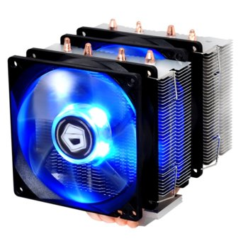 Охлаждане за процесор ID Cooling SE-904TWIN, съвместимост с Intel 2011/1366/1151/1150/1155/1156 и AMD FM2+/FM2/FM1/AM3+/AM3/AM2+/AM2 image