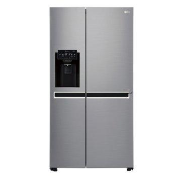 Хладилник с фризер LG GSJ761PZXV, клас A+, 601 л. общ обем, свободностоящ, 419 kWh/годишно, диспенсър, LED дисплей, Total No Frost, инокс image