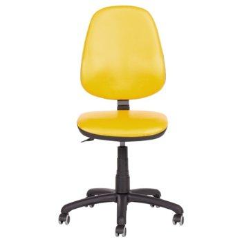 Офис стол Carmen Polo, без подлакътници, еко кожа, полипропилен, жълт image