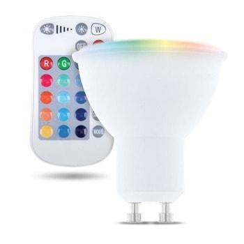 LED крушка Forever RTV003567, GU10, 5W, 250 lm, 3000K, RGB, дистанционно image