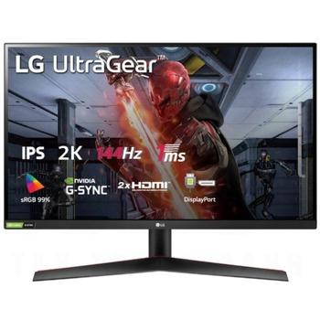 """Монитор LG UltraGear 27GN800-B, 27"""" (68.58 cm) IPS панел, 144Hz, HDR, QHD, 1ms, 350cd/m2, DisplayPort, HDMI image"""