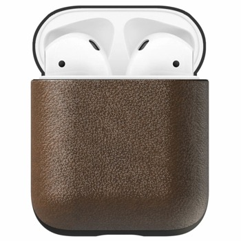 Защитен калъф Nomad Leather Case за Apple Airpods, естествена кожа, тъмнокафяв image