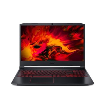 "Лаптоп Acer Nitro 5 AN515-55-73HH (NH.Q7JEX.00L), шестядрен Comet Lake Intel Core i7-10750H 2.6/5.0 GHz, 15.6"" (39.62 cm) Full HD IPS Anti-Glare Display & GF GTX 1650Ti 4GB, (HDMI), 8GB DDR4, 1TB HDD, 1x USB Type-C, Linux image"