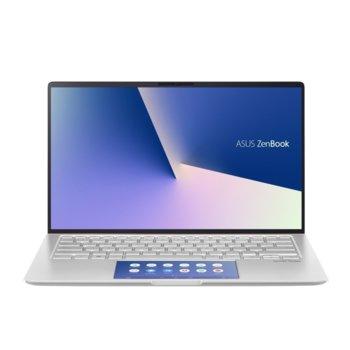 """Лаптоп Asus ZenBook UX434FAC-WB502T (90NB0MQ6-M05360)(сребрист), четириядрен Comet Lake Intel Core i5-10210U 1.6/4.2 GHz, 14"""" (35.56 cm) Full HD Glare Display, (HDMI), 8GB, 512GB SSD, 1x USB 3.1 Type C, Windows 10  image"""