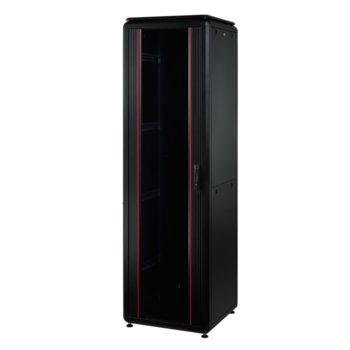 """Комуникационен шкаф Mirsan MR.GTV36U66DE.01, 19"""", 36U, 600 x 600 x 1661, свободностоящ, товароносимост 1000кг, черен image"""