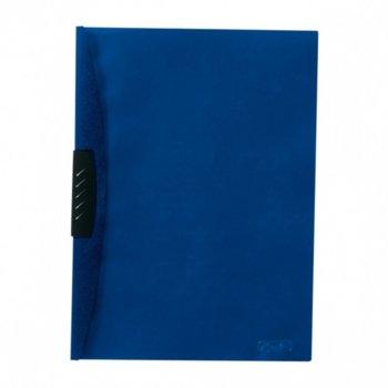 Папка Herlitz, с клип, А4, син гръб с прозрачно лице image