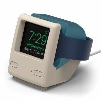 Силиконова поставка Elago W4 Watch Stand EST-WT4-ABL, за Apple Watch, съвместима с Apple Nightstand Mode, синя image