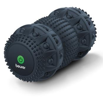 Масажен валяк Beurer MG 35 DEEP ROLL, за целенасочен масаж на задействащи точки, 3 въртящи се ролкови блока, 3 нива на интензивност и режим на масаж, черен image