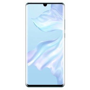 """Смартфон Huawei P30 Pro (Breathing Crystal), поддържа 2 sim карти, 6.47"""" (16.43 cm) FHD+ OLED дисплей, осемядрен Kirin 980 2.6GHz, 6GB RAM, 128GB Flash памет (+nano слот), 40.0MPix + 20.0MPix + 8.0MPix & 32.0 MPix камера, Android, 192g image"""