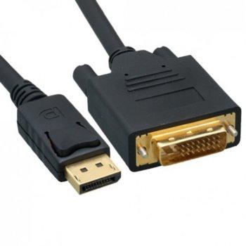 Кабел DP(м) към DVI(м), 3m, черен image