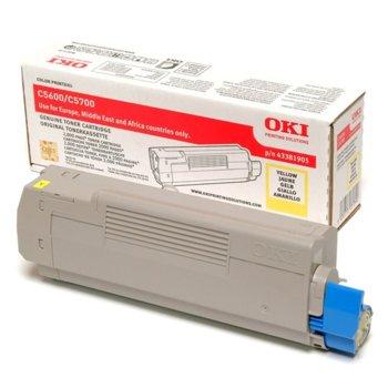 КАСЕТА ЗА OKI C 5600/5700 - Yellow - P№ 43381905 product