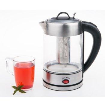 Електрическа кана Rohnson R-7605, вместимост 1,7 литра, 2000W, функция за запазване на топлината, филтър за чай, инокс image