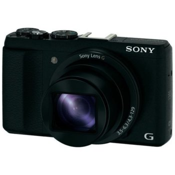 "Фотоапарат Sony Cyber Shot DSC-HX60 + кейс, черен, 30xOptical zoom, 20.4Mpix, 3"" (7.62 cm) екран, SDHC/SDXC, micro USB, micro HDMI image"