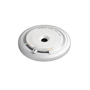 "Обектив Olympus ZD Micro 15mm f/8 ""Body Cap Lens"" (бял) за Olympus image"
