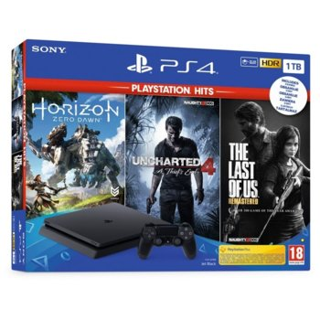 Sony PS4 Slim 1TB + 3 games (HZD/UNCH4:ATE/TLOU) product