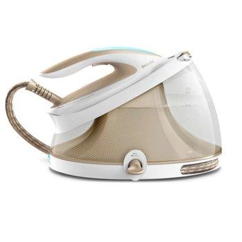 Парогенератор Philips PerfectCare Expert Plus GC9410/60, до 120 г/мин непрекъсната пара, 6,7 бара налягане, 450 гр. парен удар, 2500 мл. резервоар, Easy De-Calc почистване, 2100W, бежова image