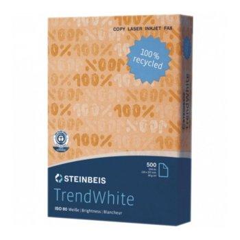 Хартия Trendwhite Recycled, A4, 80 g/m2, 500 листа, бяла image