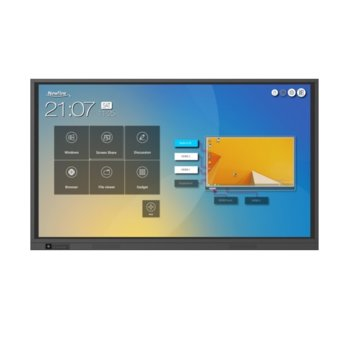"Интерактивен дисплей Newline TruTouch TT-7519RS, 75"" (190.5 см) 4K Ultra HD Advanced Infrared Touch мулти-тъч дисплей, HDMI, DP, USB, LAN image"