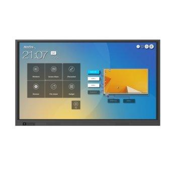 "Интерактивен дисплей Newline TruTouch TT-7519RS, 75"" (190.5 см) 4K Ultra HD Advanced Infrared Touch мулти-тъч дисплей, HDMI, DP, USB, LAN image"