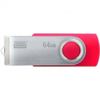 Памет 64GB USB Flash Drive, Goodram UTS3-0640R0R11, USB 3.1 Gen 1, червена image